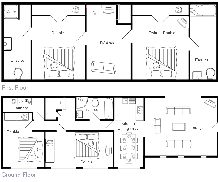 ... Floor Layout Of Southwold Barn. Floorplan